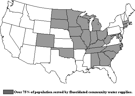 Fluoridated Cities States